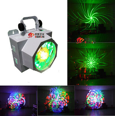 LED 8 eyes gobo light with laser lighting RGBW for dj party stage lighting