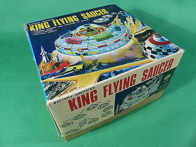 Space Toy -  King Flying Saucer by KO Yoshiya Toys Made Japan 1960's in Box