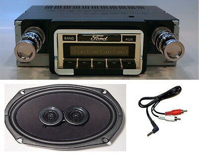1964-1965 Ford Ranchero Stereo Radio + DVC Dash Speaker + Free Aux Cable 230