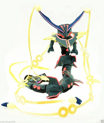 Pokemon Center Plush Doll Shiny Black Mega Rayquaza Stuffed Toy 34 Inches