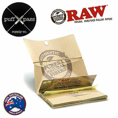 Raw Classic Artesano King Size Slim Rolling Papers Tips Tray - Smoking Tobacco