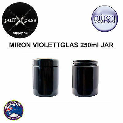 MIRON VIOLETTGALS - VIOLET GLASS JAR WITH LID 250ml - ANTI AGEING JAR - HERB JAR