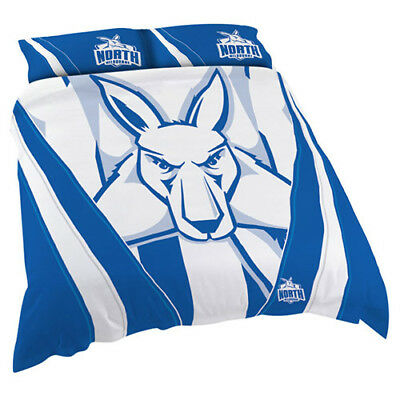 North Melbourne Kangaroos AFL Quilt Cover Set Single Double Queen King BNWT