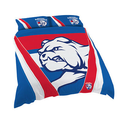 Western Bulldogs 2017 AFL Quilt Cover Set Single Double Queen King BNWT