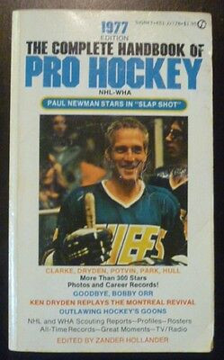 1977 The Complete Handbook of Pro Hockey (Paul Newman Cover)