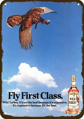 1966 WILD TURKEY Whiskey Vintage Look Replica Metal Sign - FLY FIRST CLASS