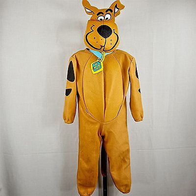 Scooby Doo Halloween Costume Toddler Size Small 2-4T w/ Hat & Collar Rubies USA