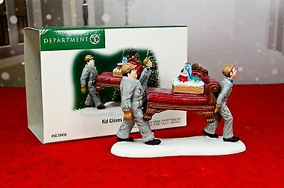 Dept 56 Heritage Village Kid Gloves Moving Figurine Men Movers Couch in  Box