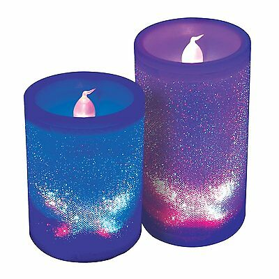 Crystal Colour Changing Candle Lights - Two Candles.