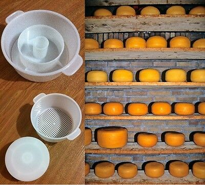 Edam Hard Cheese Full Making Kit + Mold With Follower Large For 2.2lbs /1kg