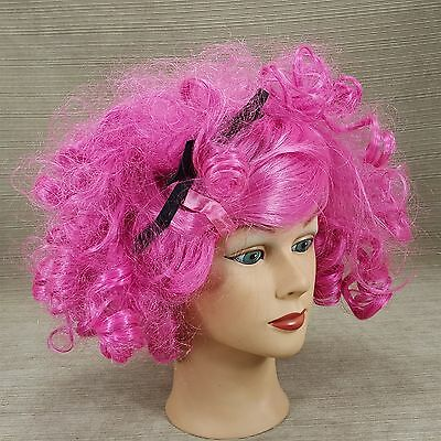 Lalaloopsy Hot Pink Curls Kids Girl Child Curly Wig Halloween Dress-Up Black Bow