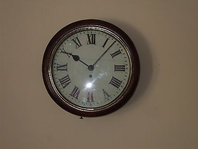 "Antique Fusee Wall Clock With A 12"" Dial.  Perfect Working Condition."