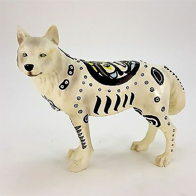 "Westland Call of the Wolf Totem 7"" Figurine #14107 White Black Symbols Tribal"