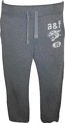 USED Boys Abercrombie&Fitch Grey&White Logo Bottoms Size Large (T.H)