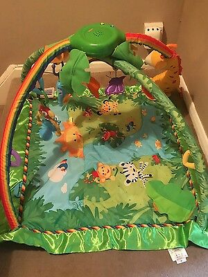 fisher price rainforest play mat with music and lights
