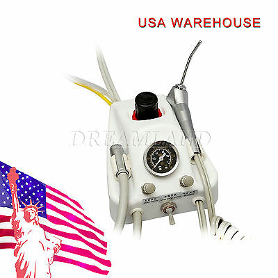 Dental Portable Turbine unit works with Air Compressor 4-H Syringe foot Pedal