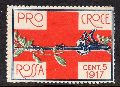 Italy WWI Red Cross poster stamp