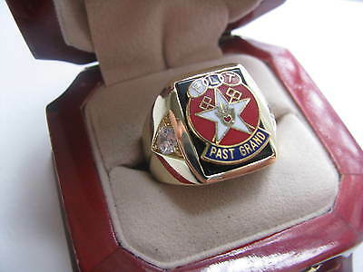 """Superb NEW! Gents """"Odd Fellows Past Grand"""" Member CREST Ring"""