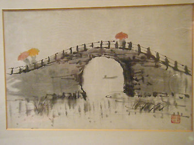 """Original Chinese Watercolour/ ink """" Rain in China"""" Offers invited"""