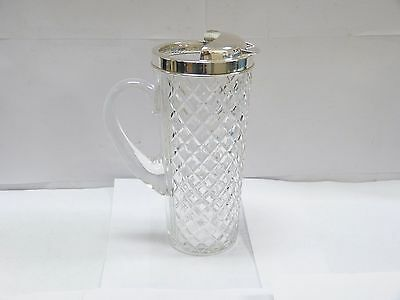 Antique Tiffany & Co Sterling Silver Crystal Martini Pitcher