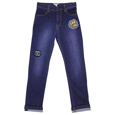Little Marc Jacobs jeans in denim stretch con patches