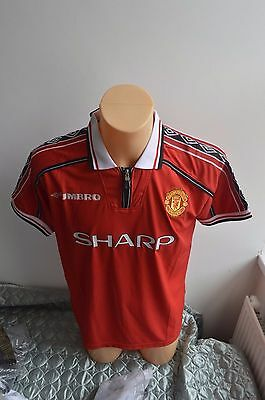 Umbro 1998-2000 Manchester United Home Shirt - Original Tags Size Large