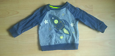 Blue Jumper with Rocket from Next Age 12-18 Months