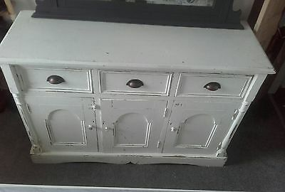 Painted Pine Victorian Dresser / cabinet