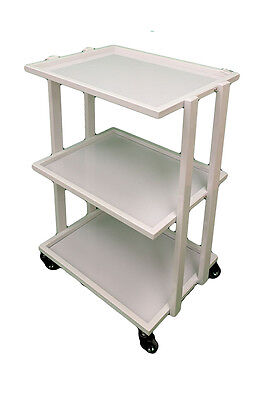 3 shelve tempered glass spa trolley
