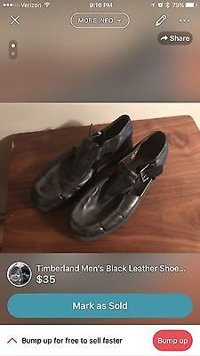Timberland Euro Sandals Black Leather Fisherman Men's 12