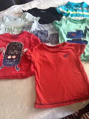 Bundle Of Boys Short Sleeve T-shirts Size 12-18 Months