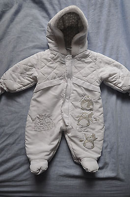 Baby Unisex Boy Girl worm snowsuit 0-3 months