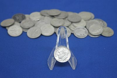 Lot of 50 - Assorted D P S 90% Silver Roosevelt & Mercury Dimes US Mint Coins