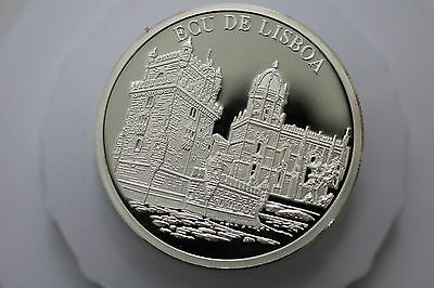 Portugal Pure Silver Proof Medal Belem Tower 1995 A63 Zm40