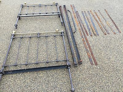 Antique Iron and Brass Single Bed size Bedstead