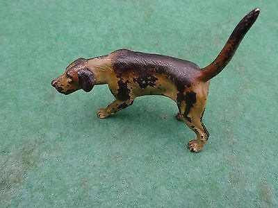 Antique Austrian cold painted bronze dog - signed - Hunting hound / Pointer