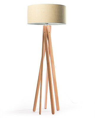 design stehlampe tripod leuchte buche holz lampe h 160cm stativ stehleuchte wei eur 157 41. Black Bedroom Furniture Sets. Home Design Ideas
