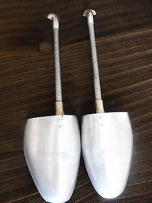 Pair Of Vintage Manfield Aluminium Shoe Trees Size 5-7