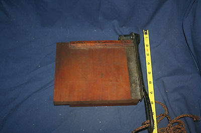 Vintage The Ammono Wooden Guillotine Paper Cutter