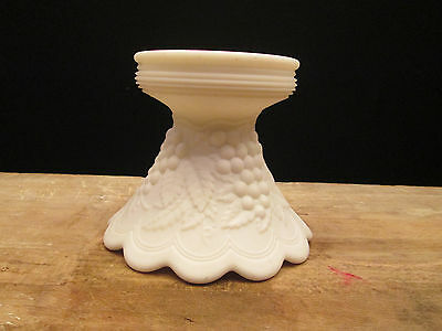 Imperial Milk Glass White Satin Paneled Grape BASE for Punch Bowl (BASE ONLY)