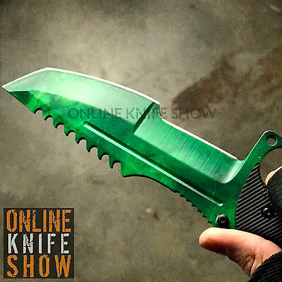 GAMMA HUNTSMAN TACTICAL COMBAT KNIFE SURVIVAL HUNTING BOWIE Fixed Blade + SHEATH