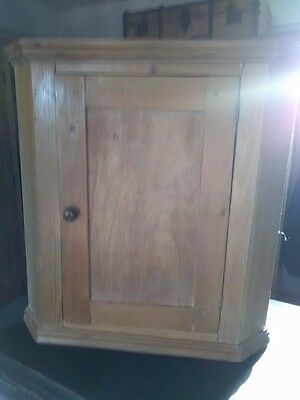 Antique Victorian corner cupboard in pine