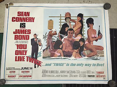 Rare Subway 2-Sheet 007 You Only Live Twice Hot Tub Artwork Original NYC Premier