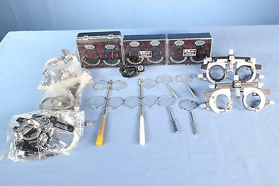 Lot of Ophthalmic Trial Lens, Glasses, Clips, etc. Ophthalmology Lot!!