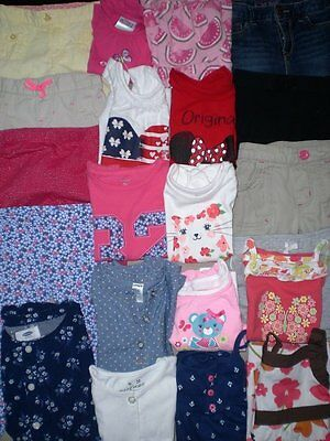 Huge Toddlers Girls Clothes Lot...size 24 months and 2T..Cute..Spring/Summer!!