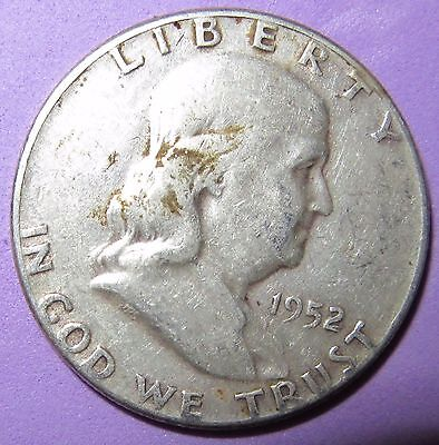 1952 Franklin 90% Silver Half Dollar-- Low Combined Shipping