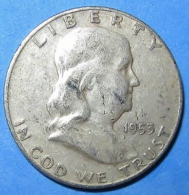 1953-D Franklin 90% Silver Half Dollar--Low Combined Shipping