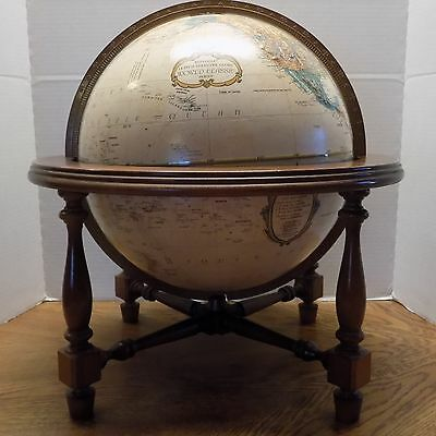 "Replogle 12"" Diameter Globe World Classic Series by M. Leroy Tolman.Wooden Base"