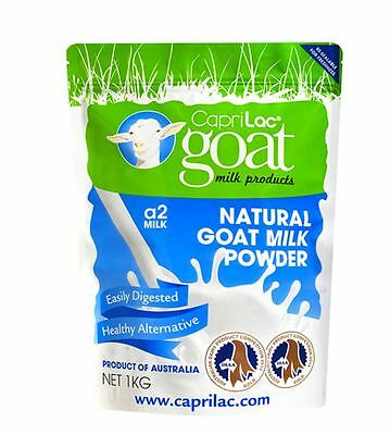 Caprilac A2 Goat's Milk Powder Natural Best Goat Milk 1kg - Product of Australia