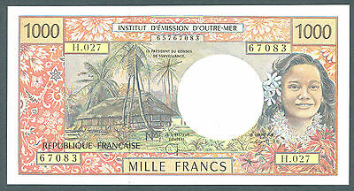 French Pacific Territories 1000 Francs Nd (1996) Unc P-2